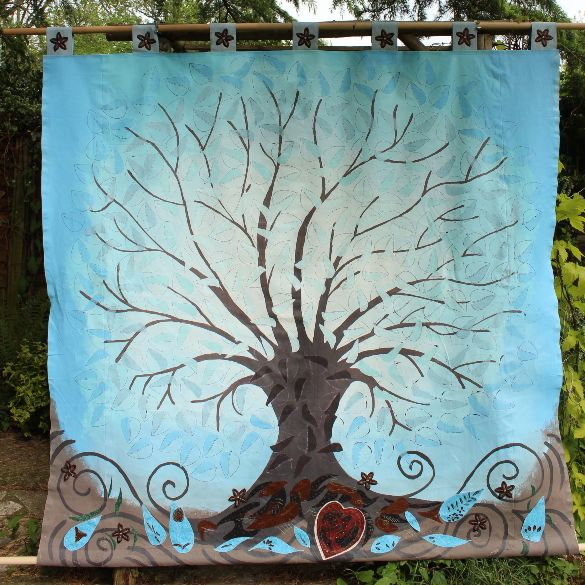 hanging banner of tree